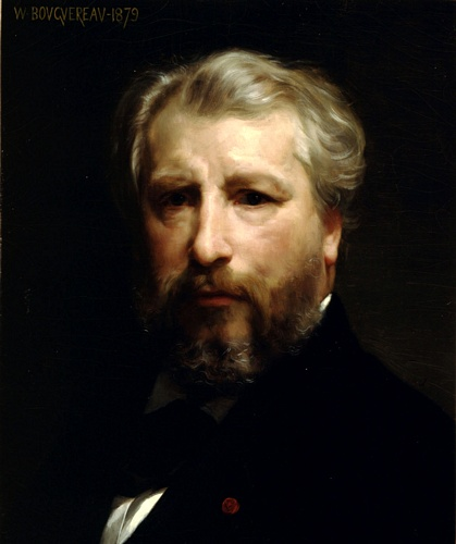 Portrait de LArtiste, huile de William Adolphe Bouguereau (1825-1905, France)