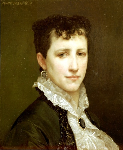 Portrait de Mlle Elizabeth Gardner, huile de William Adolphe Bouguereau (1825-1905, France)