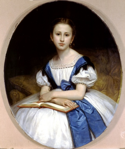 Portrait de Mlle Brissac, huile de William Adolphe Bouguereau (1825-1905, France)