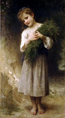 Retour des champs, huile de William Adolphe Bouguereau (1825-1905, France)