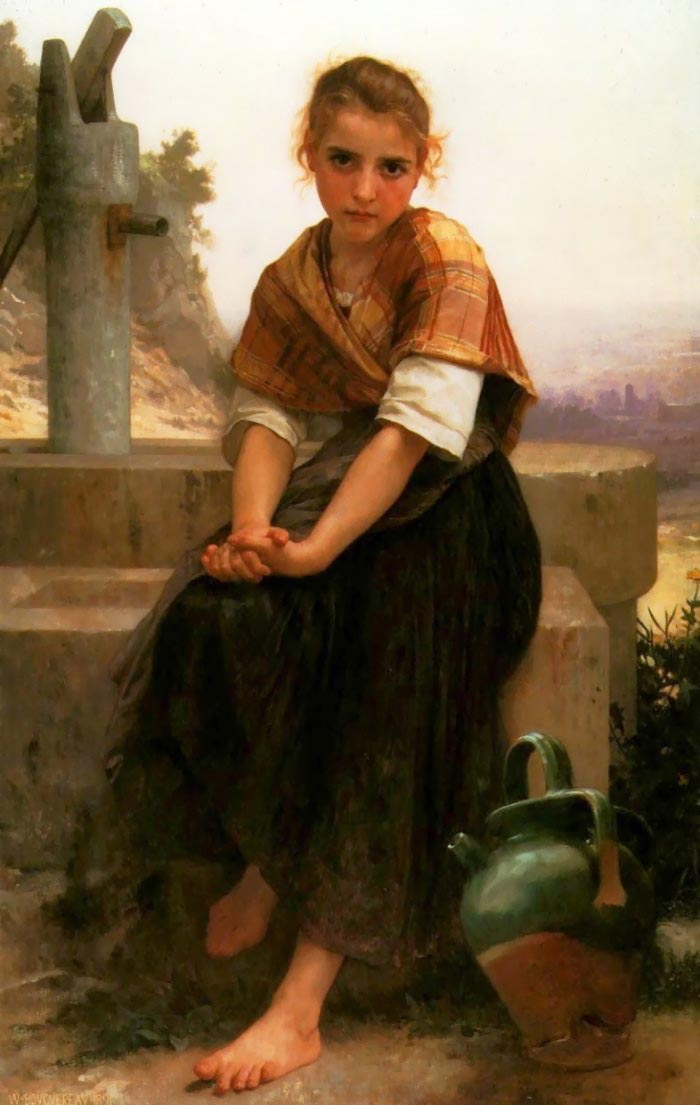 Le broc cassé de William Adolphe Bouguereau (1825-1905, France) | Copie Tableau | WahooArt.com