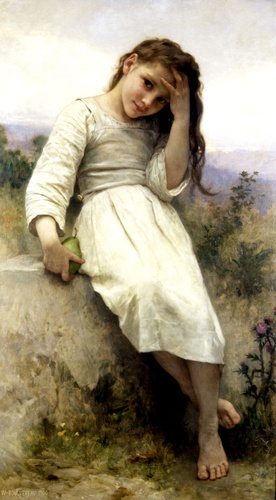 Le Petit Marauder 1900, huile de William Adolphe Bouguereau (1825-1905, France)