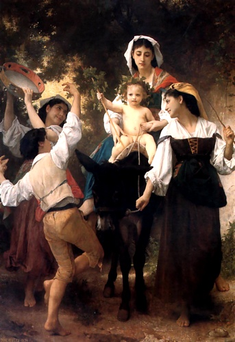 Le retour de la récolte, Huile de William Adolphe Bouguereau (1825-1905, France)