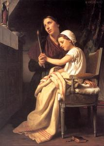 William Adolphe Bouguereau - Le placement de remerciement