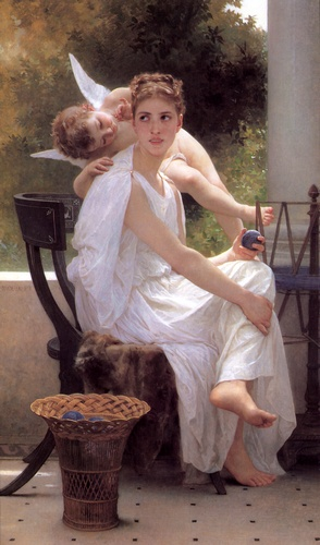 Travail interrompu, huile de William Adolphe Bouguereau (1825-1905, France)