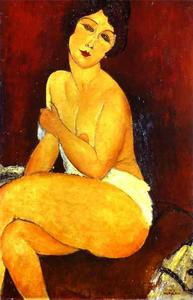 Amedeo Modigliani - Nu assis sur Divan