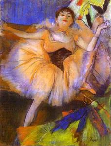 Edgar Degas - assis dancer ( Danseuse assise )