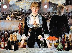 Edouard Manet - un bar à l Folies-Bergere - (copie de tableau)