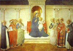 Fra Angelico - Madone delle ombre ( Madone de l Ombres )