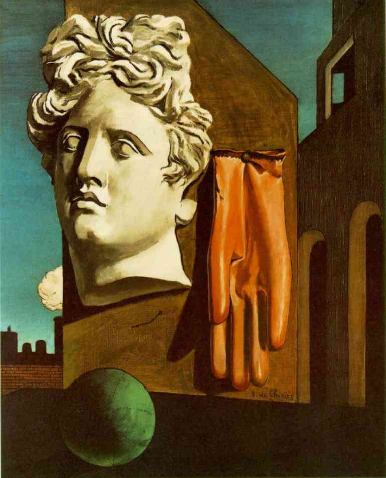 chanson de l'amour, sculpture de Giorgio De Chirico (1888-1978, Greece)