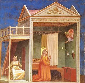 Giotto Di Bondone - Scrovegni - [ 03 ] - annonciation à sainte-anne