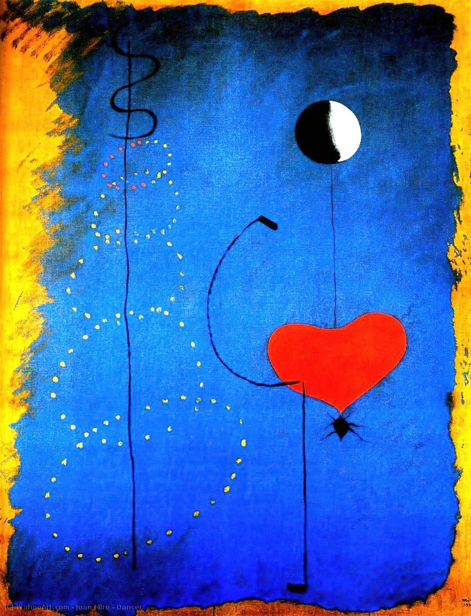 Danseuse, 1925 de Joan Miro (1893-1937, Spain) | Reproductions D'art Sur Toile | WahooArt.com