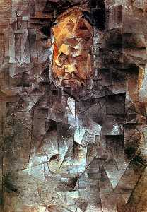 Pablo Picasso - Portrait d Ambroise Vollard - (copie de tableau)