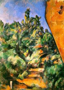 Paul Cezanne - Bibemus . le rouge rocher