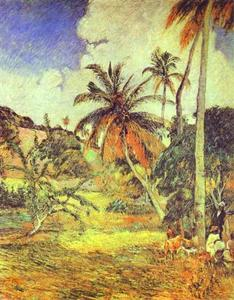 Paul Gauguin - Palmiers sur Martinique