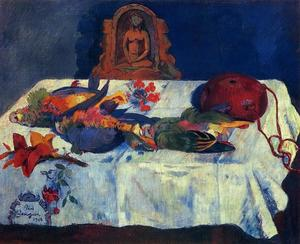 Paul Gauguin - nature morte avec perroquets