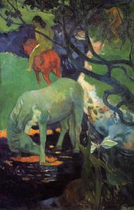 Paul Gauguin - le blanc cheval