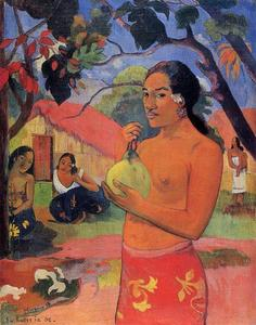 Paul Gauguin - femme la tenue un fruit