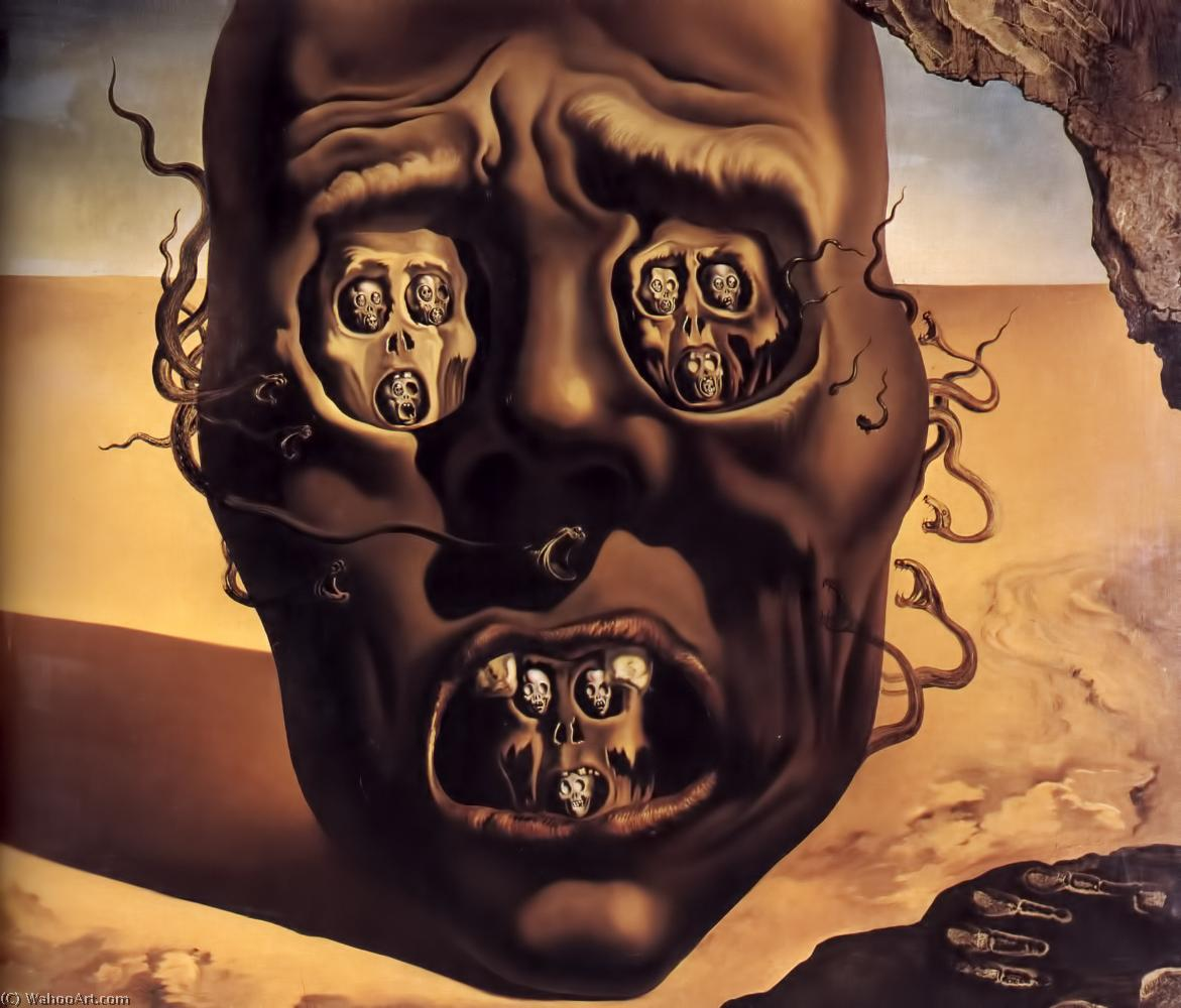 Populaire visage de la guerre, Huile de Salvador Dali (1938-3183, Spain) SJ59