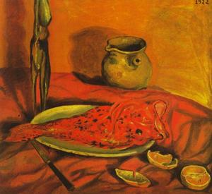 Salvador Dali - nature morte ( Pulpo y scorpa ) , 1922