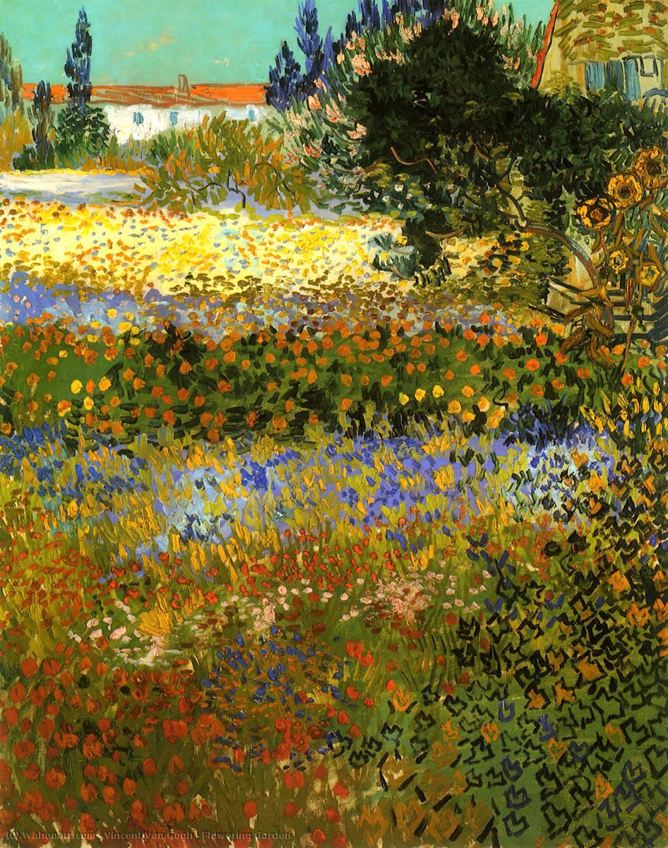 Jardin Fleurissant Huile Sur Toile De Vincent Van Gogh