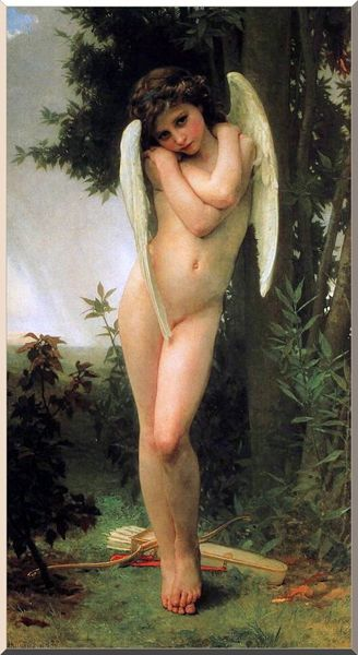 Cupidon, huile de William Adolphe Bouguereau (1825-1905, France)