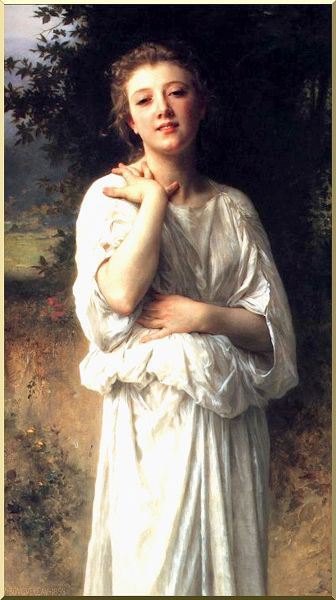 Femme fille de William Adolphe Bouguereau (1825-1905, France) | WahooArt.com