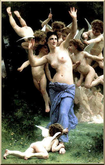 Envahir le royaume de Cupidon de William Adolphe Bouguereau (1825-1905, France) | Reproductions D'art Sur Toile | WahooArt.com