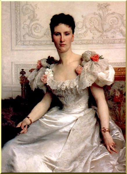 Portrait de Madame comtesse de Cambacérès de William Adolphe Bouguereau (1825-1905, France) | Copie Tableau | WahooArt.com