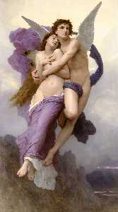 William Adolphe Bouguereau - L Enlèvement de Psyché