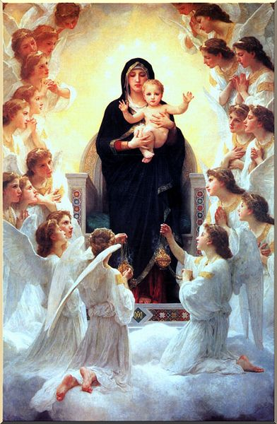 Achat Reproductions D'art | la vierge avec anges de William Adolphe Bouguereau (1825-1905, France) | WahooArt.com