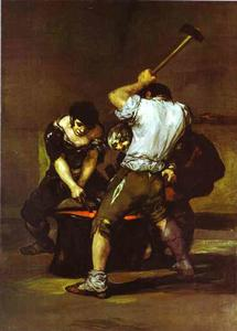 Francisco De Goya - La fragna (The Smithy)