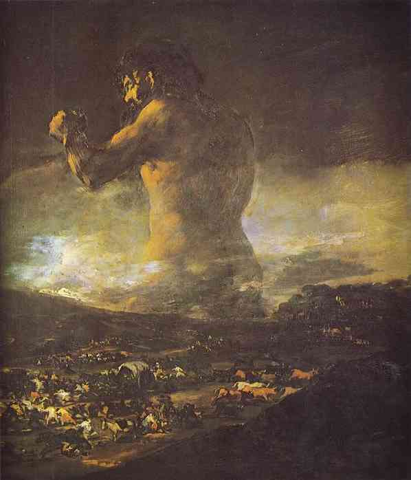 Le Colossus de Francisco De Goya (1746-1828, Spain) | Reproductions De Peintures Francisco De Goya | WahooArt.com