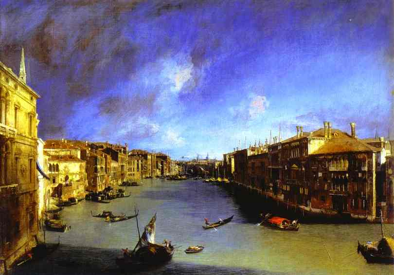 Achat Reproductions D'œuvres D'art | Grand Canal du Palazzo Balbi Vu de Giovanni Antonio Canal (Canaletto) (1730-1768, Italy) | WahooArt.com