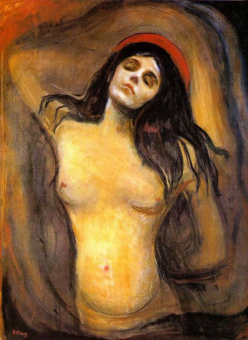 Madone, Huile de Edvard Munch (1863-1944, United Kingdoms Of Sweden And Norway)
