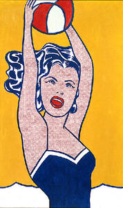 Roy Lichtenstein - fille avec ball