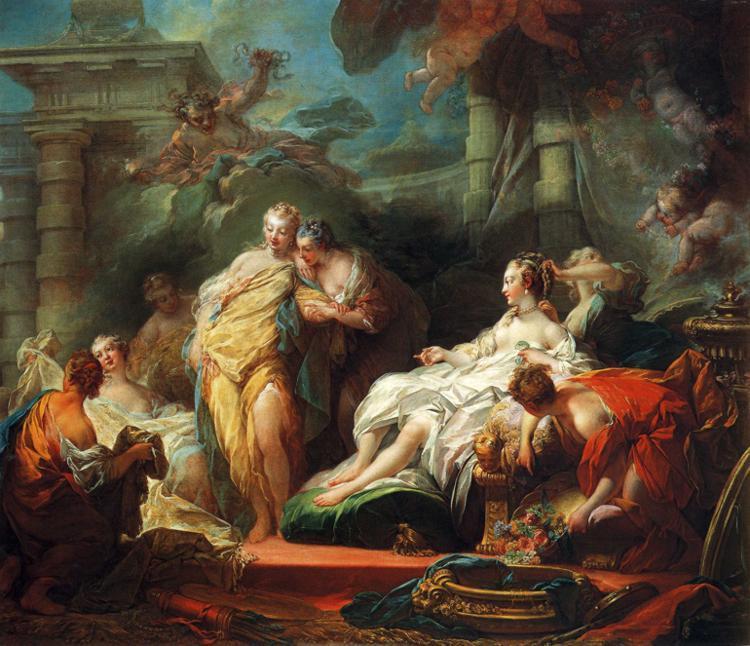 Psych montrant ses s urs elle cadeaux de cupidon de jean honor fragonard 1732 1806 france - Image de cupidon gratuite ...