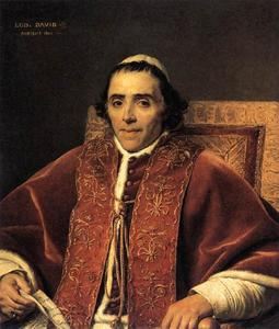 Jacques Louis David - Portrait de le pape pie vii