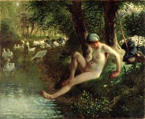 Jean-François Millet - le bather
