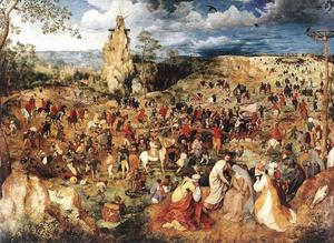 Pieter Bruegel The Elder - Le Christ portant la cross - (reproduction de peintures célèbres)