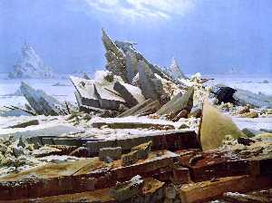 Caspar David Friedrich - La Mer de Glace - (copie de tableau)