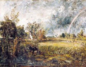 John Constable - Cottage à East Bergholt