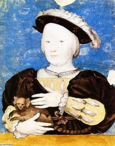 Hans Holbein The Younger - Edward , prince de galles , avec des singes