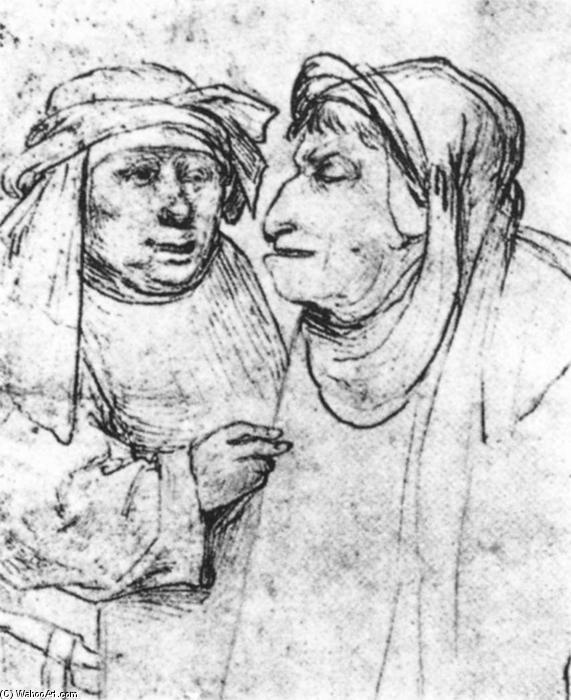 Hieronymus Bosch >> stylo >> Deux chefs Caricaturé