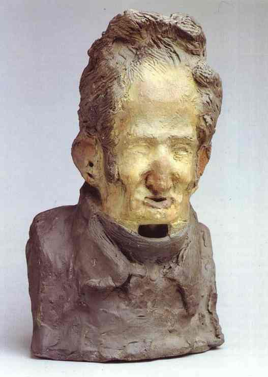 Charles-Léonard Gallois, sculpture de Honoré Daumier (1808-1879, France)