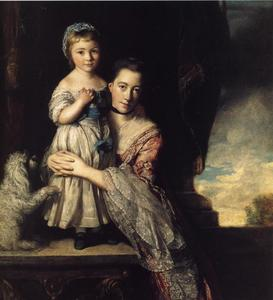 Joshua Reynolds - Georgiana , comtesse spencer , et sa fille