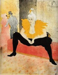 Henri De Toulouse Lautrec - Elles , Cha-U-Kao , clown chinois , Assis