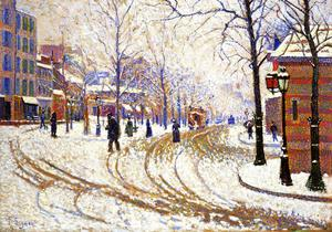 Paul Signac - Neige , boulevard de clichy , Paris