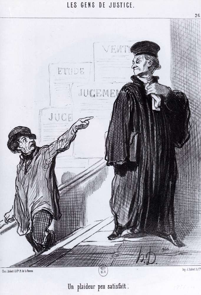 Un plaideur mécontent de Honoré Daumier (1808-1879, France) | Reproductions D'art Sur Toile | WahooArt.com