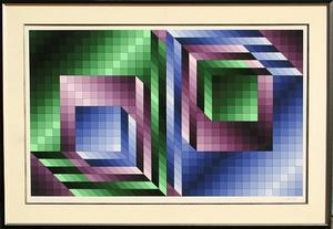 Victor Vasarely - dyptique